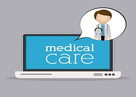 Medical care design over grey background, vector illustration